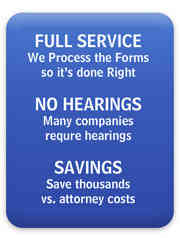 Full Service No Hearings and Savings